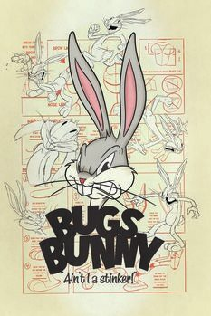 Plakat Looney Tunes - Królik Bugs