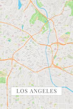 Mapa Los Angeles color
