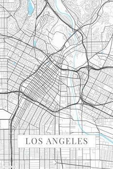 Mapa Los Angeles white