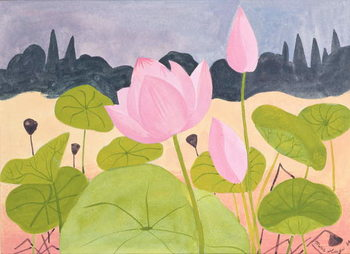 Lotus in the Garrigue, 1984 Kunstdruk