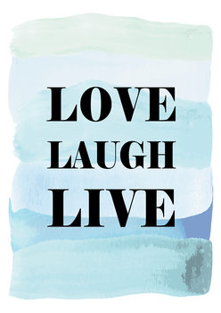Ilustracija Love Laugh Live
