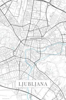 Mapa Lublaň white