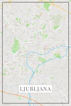 Χάρτης Lubljana color