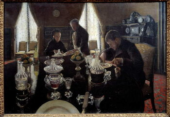 Obrazová reprodukce Lunch. Painting by Gustave Caillebotte , 1876. Oil on canvas. Private collection. - Luncheon. Painting by Gustave Caillebotte , 1876. Oil on canvas. Private collection
