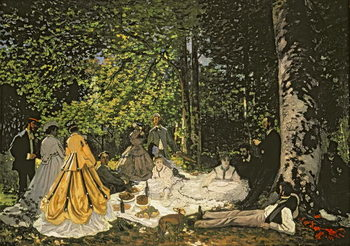 Reproducción de arte  Luncheon on the Grass, 1865-66