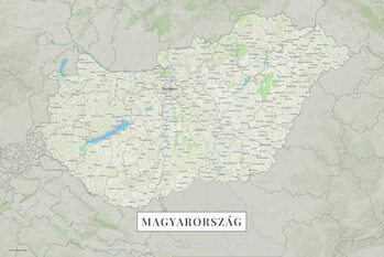 Mapa Maďarsko color