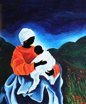 Madonna and child - Lullaby, 2008 Kunstdruck