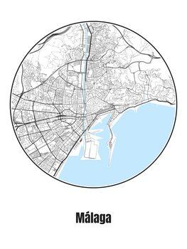 Map Málaga