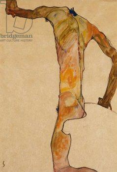 Male Nude; Mannlicher Akt, 1910 Kunstdruk