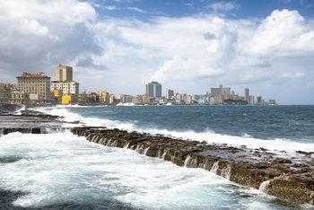 Umělecká fotografie  Malecon Wall of Havana