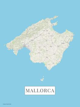 Mapa Mallorca color