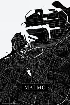 Mapa Malmo black