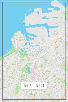 Mapa Malmo color