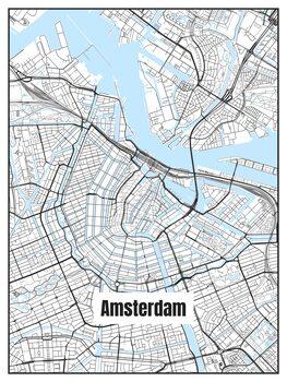 Ilustrace Map of Amsterdam