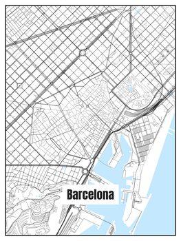 iIlustratie Map of Barcelona