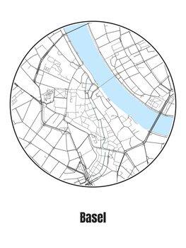 Ilustrace Map of Basel