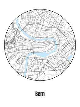Ilustrace Map of Bern