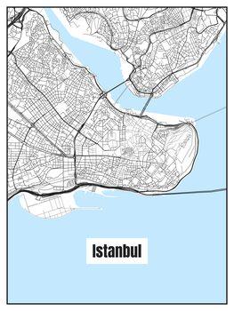 Ilustración Map of Istanbul