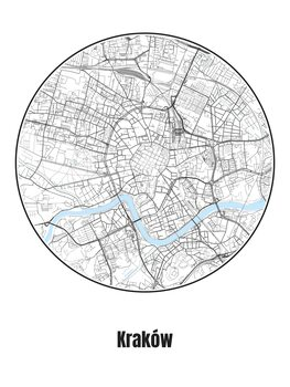 Illustration Map of Kraków
