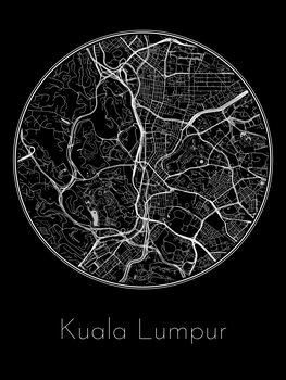 Ilustración Map of Kuala Lumpur