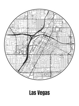 Ilustración Map of Las Vegas