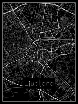 iIlustratie Map of Ljubljana