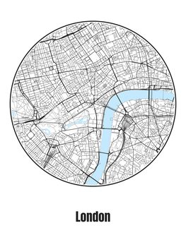 Ilustrace Map of London