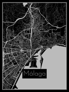 iIlustratie Map of Málaga
