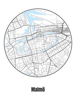 Illustration Map of Malmö