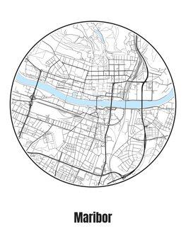 iIlustratie Map of Maribor