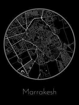 Ilustración Map of Marrakesh