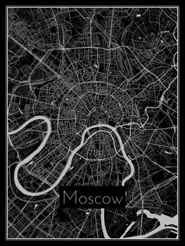 Ilustración Map of Moscow