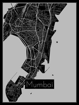 Ilustración Map of Mumbai