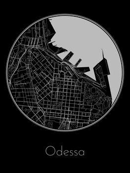 Illustration Map of Odessa