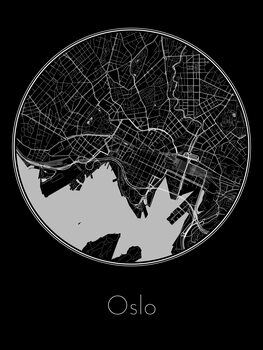 Ilustrace Map of Oslo