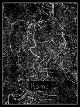 Ilustrácia Map of Roma