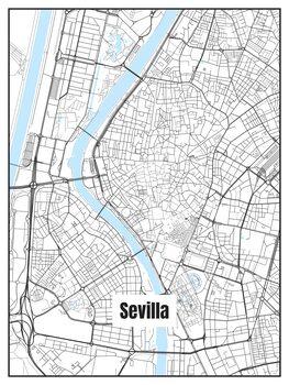 iIlustratie Map of Sevilla