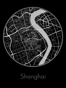 Ilustración Map of Shanghai
