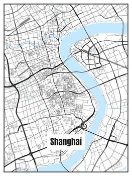 Ilustrace Map of Shanghai