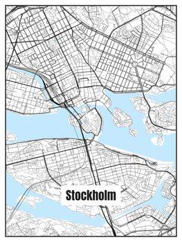 Illustration Map of Stockholm