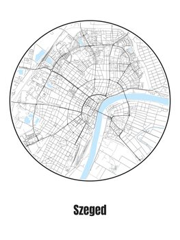 Illustration Map of Szeged