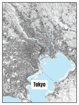 Ilustrace Map of Tokyo