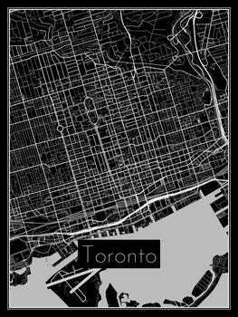Illustration Map of Toronto