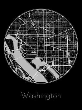 Ilustrace Map of Washington