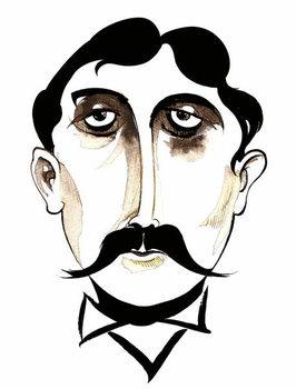 Konsttryck Marcel Proust -  caricature