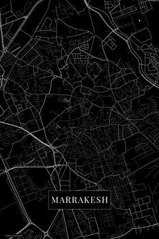 Mapa Marrakech black