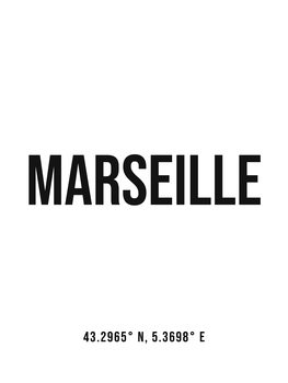 Ilustrace Marseille simple coordinates