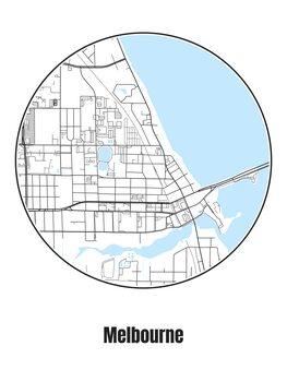 Mapa Melbourne