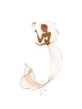 Ilustracja Mermaid - Champagne
