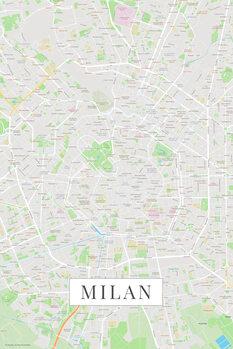 Mapa Milan color
